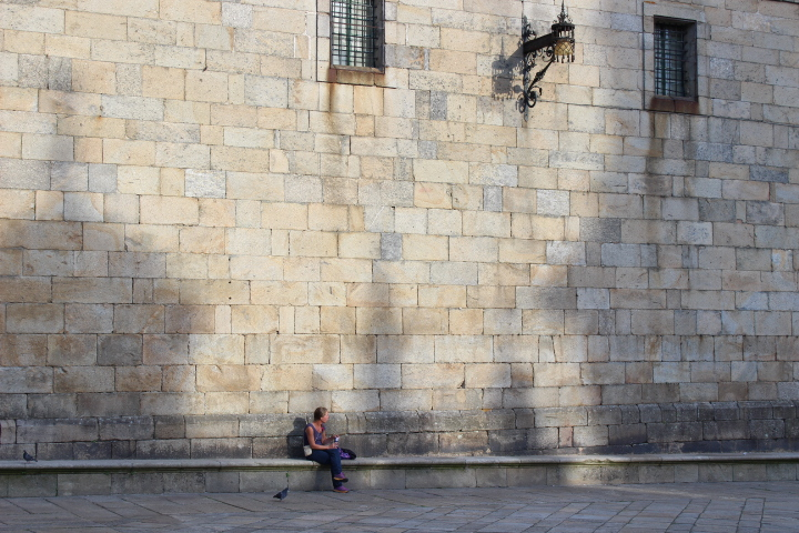 Magical corners of Santiago: The wall of the convent of San Paio