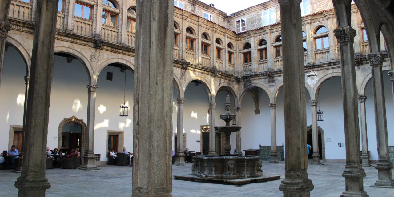 Magical corners of Santiago: Cloister of the Hostal de los Reyes Católicos