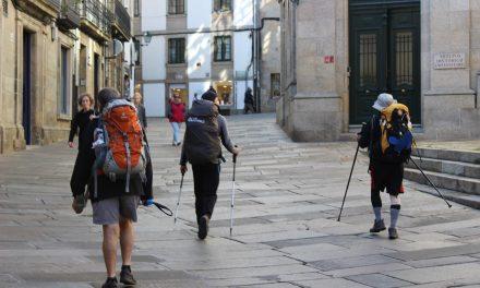Peregrinos en Santiago: peregrinos de invierno en las calles de Compostela!