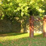 Magical corners of Santiago: Chillida sculpture in San Domingos de Bonaval Park